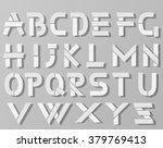 vector origami alphabet style... | Shutterstock .eps vector #379769413