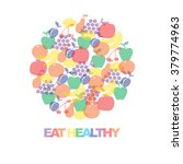 eat healthy   motivational... | Shutterstock .eps vector #379774963