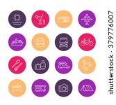 travel  tourism line icons ... | Shutterstock .eps vector #379776007