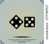 dice sign. casino game symbol. | Shutterstock .eps vector #379780927