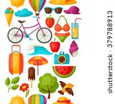 seamless pattern with stylized... | Shutterstock .eps vector #379788913