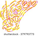 abstract lines and girl with... | Shutterstock .eps vector #379793773