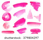 vector collection of watercolor ... | Shutterstock .eps vector #379804297