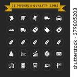 25 premium quality icon set.... | Shutterstock .eps vector #379805203