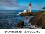 Stock photo sheringham lighthouse on vancouver island british columbia canada on a beautiful spring morning 379806757