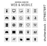 set of 25 universal icons.... | Shutterstock .eps vector #379807897