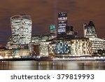 london skyline by night   Shutterstock . vector #379819993