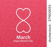 woman's day vector cards... | Shutterstock .eps vector #379820053