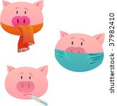 epidemic of a swine flu | Shutterstock .eps vector #37982410