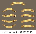 ribbon banner set.golden... | Shutterstock .eps vector #379826953