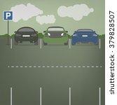 vector parking lot | Shutterstock .eps vector #379828507