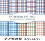vector of seamless patterns set.... | Shutterstock .eps vector #379833793