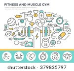 fitness and muscle gym concept...   Shutterstock .eps vector #379835797