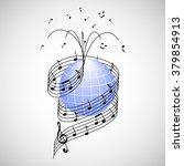 music around the world. stave... | Shutterstock .eps vector #379854913