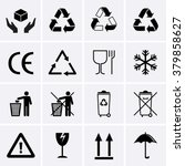recycling icons. waste... | Shutterstock .eps vector #379858627