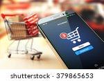 online shopping concept... | Shutterstock . vector #379865653