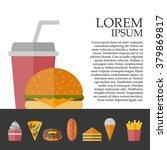 vector american fast food... | Shutterstock .eps vector #379869817