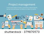 project management concept.... | Shutterstock .eps vector #379870573