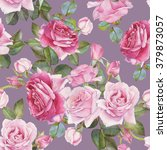 floral seamless pattern with... | Shutterstock . vector #379873057