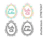 awesome set of decorative eggs... | Shutterstock .eps vector #379874347