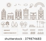 vector collection of icons and... | Shutterstock .eps vector #379874683