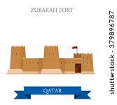 zubarah fort in qatar. flat... | Shutterstock .eps vector #379896787