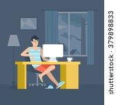 freelancer home office... | Shutterstock .eps vector #379898833