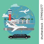 private travel flat vector... | Shutterstock .eps vector #379901077