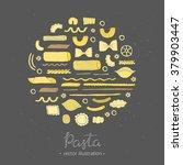 different kinds of italian... | Shutterstock .eps vector #379903447