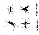 Set Of Mosquito Silhouettes...