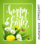 easter greeting. lettering... | Shutterstock .eps vector #379922497