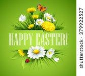 easter greeting. lettering... | Shutterstock .eps vector #379922527