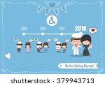 duration cute cartoon wedding...   Shutterstock .eps vector #379943713