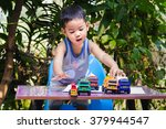 little children playing with... | Shutterstock . vector #379944547