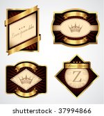 four gold and brown vector... | Shutterstock .eps vector #37994866