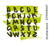 vector watercolor alphabet.... | Shutterstock .eps vector #379949047