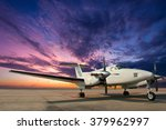 propeller plane parking at... | Shutterstock . vector #379962997