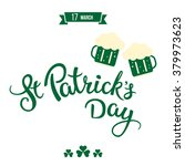beer  clovers and original... | Shutterstock .eps vector #379973623