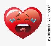 heart shape cartoon  | Shutterstock .eps vector #379977667
