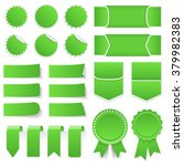 green price tags  stickers ... | Shutterstock .eps vector #379982383