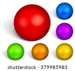 set of multicolored spheres... | Shutterstock . vector #379985983