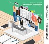 isometric flat design concepts... | Shutterstock .eps vector #379988983