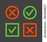 set of check mark icons on a...   Shutterstock .eps vector #380006827