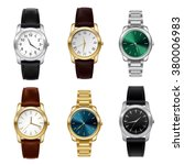 realistic wrist watches set... | Shutterstock .eps vector #380006983