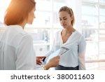 young woman financier... | Shutterstock . vector #380011603