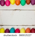 Olored Easter Eggs. Selective...