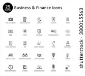 business and finance icon set.... | Shutterstock .eps vector #380015563