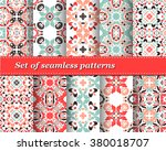 set of mexican stylized... | Shutterstock .eps vector #380018707