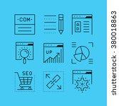 set of line vectors icons in... | Shutterstock .eps vector #380018863