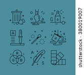 set of line vectors icons in... | Shutterstock .eps vector #380019007